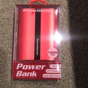 PowerMaster Portable Power Bank 12000 brand new!!